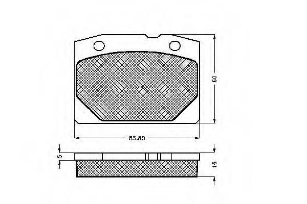 LADA 2101-350 109001 Комплект тормозных колодок, дисковый тормоз