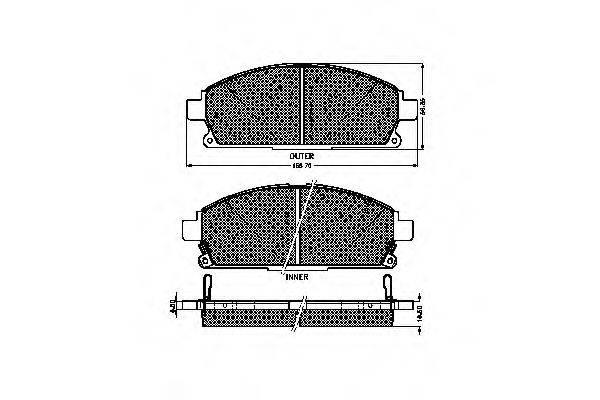 SPIDAN 32450 Комплект тормозных колодок, дисковый тормоз