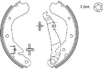 SPIDAN 31056 Комплект тормозных колодок