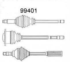SPIDAN 99401 Сервис срочного ремонта, шарнир приводной вал