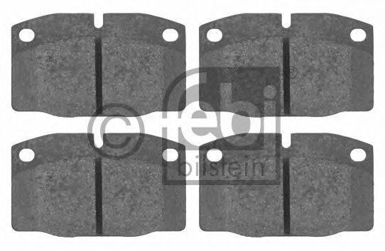 FEBI BILSTEIN 16203 Комплект тормозных колодок, дисковый тормоз