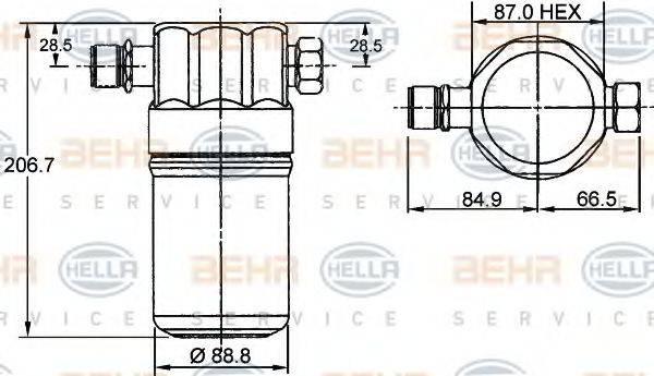 BEHR HELLA SERVICE 8FT351192041 Осушитель, кондиционер