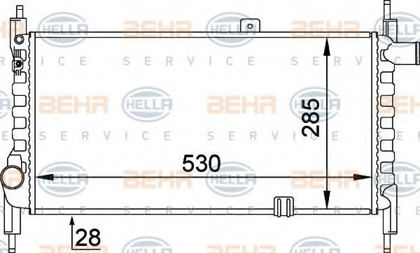 BEHR HELLA SERVICE 8MK376714281 Радиатор, охлаждение двигателя