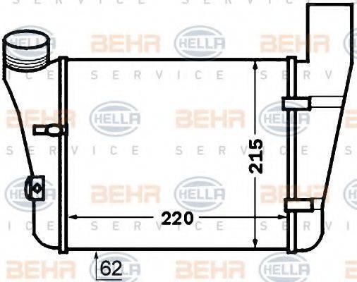 BEHR HELLA SERVICE 8ML376776081 Интеркулер