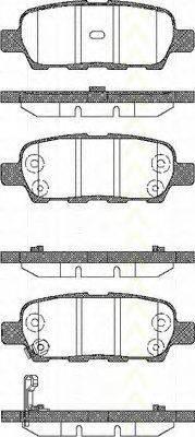 TRISCAN 811014022 Комплект тормозных колодок, дисковый тормоз