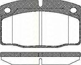 TRISCAN 811024234 Комплект тормозных колодок, дисковый тормоз