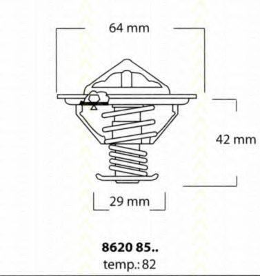 TRISCAN 86208582 Термостат, охлаждающая жидкость