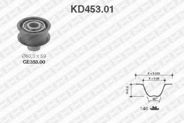 SNR KD45301 Комплект ремня ГРМ