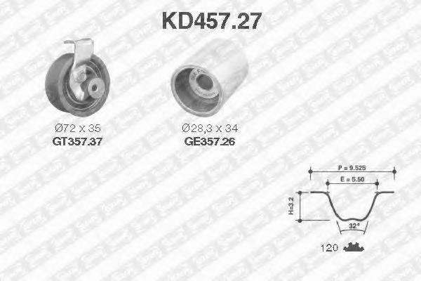SNR KD45727 Комплект ремня ГРМ