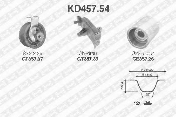 SNR KD45754 Комплект ремня ГРМ