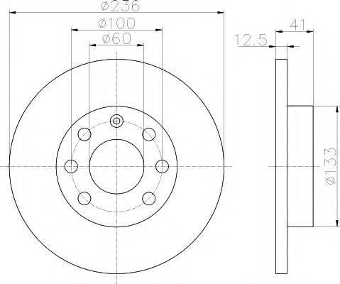 PAGID 52404 Тормозной диск