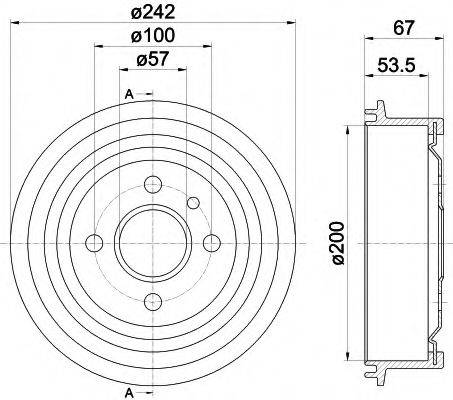 PAGID 62402 Тормозной барабан