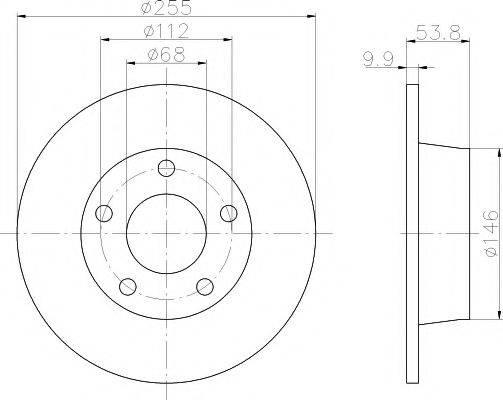 PAGID 50305 Тормозной диск