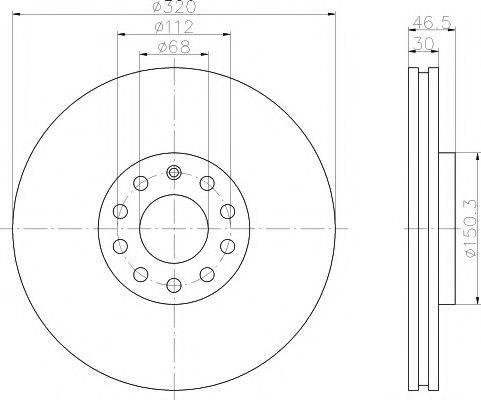 PAGID 50316 Тормозной диск