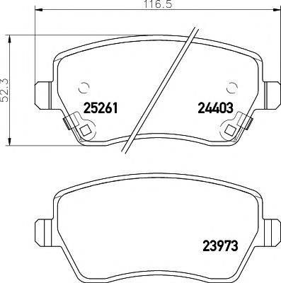 PAGID T2087 Комплект тормозных колодок, дисковый тормоз