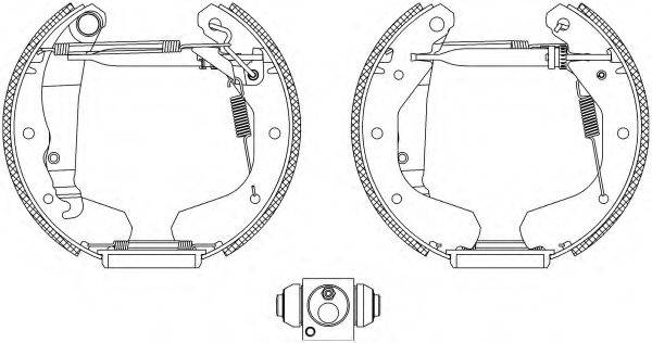 PAGID R0205 Комплект тормозных колодок