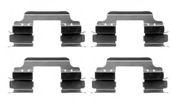PAGID K0161 Комплектующие, колодки дискового тормоза