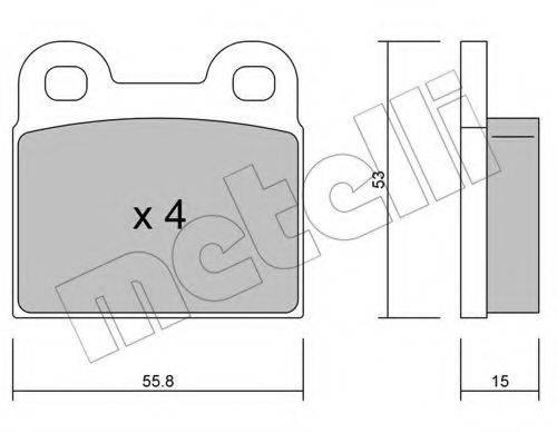 REMSA 0007.10 Комплект тормозных колодок, дисковый тормоз