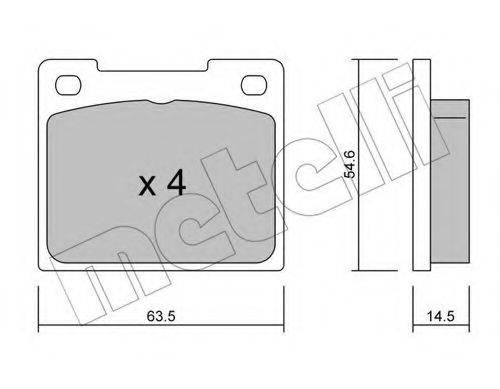 REMSA 0039.10 Комплект тормозных колодок, дисковый тормоз