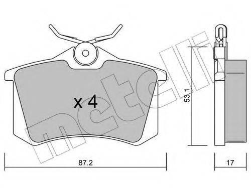 METELLI 2201001 Комплект тормозных колодок, дисковый тормоз