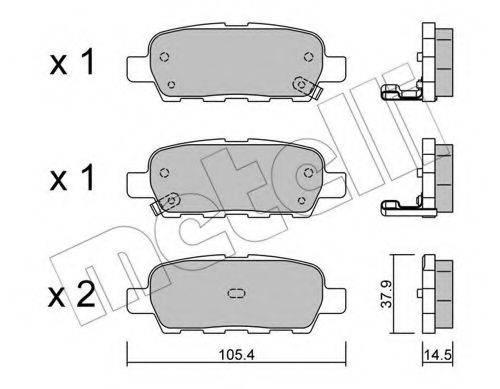 METELLI 2206120 Комплект тормозных колодок, дисковый тормоз