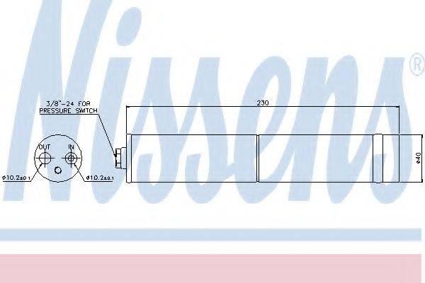 NISSENS 95383 Осушитель, кондиционер