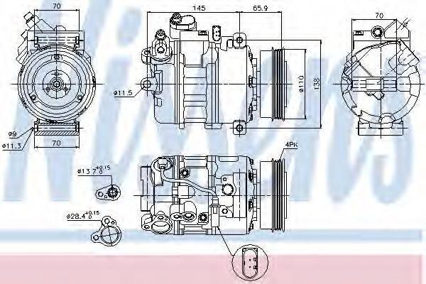 NISSENS 89023 Компрессор, кондиционер