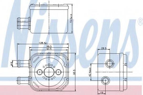 NISSENS 90652 масляный радиатор, двигательное масло
