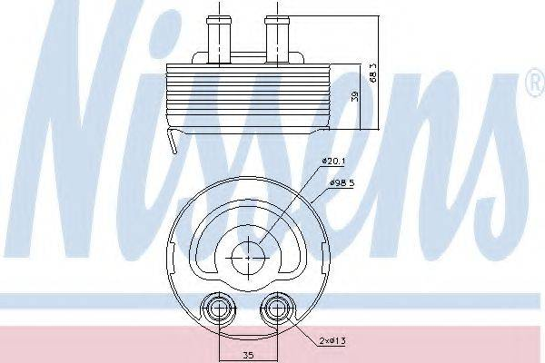 NISSENS 90719 масляный радиатор, двигательное масло