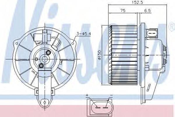 NISSENS 87221 Вентилятор салона