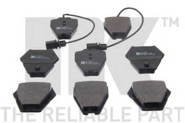 NK 224780 Комплект тормозных колодок, дисковый тормоз
