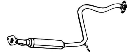 MEFEX 0071 Средний глушитель выхлопных газов