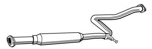MEFEX 0087 Средний глушитель выхлопных газов