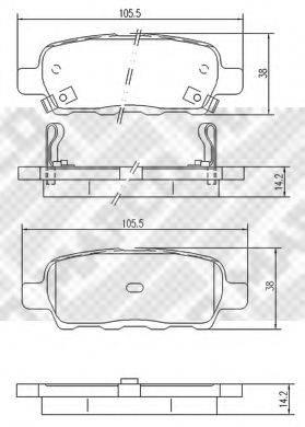 MAPCO 6754 Комплект тормозных колодок, дисковый тормоз