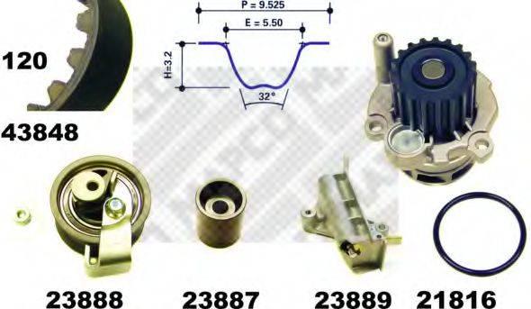 MAPCO 41848 Водяной насос + комплект зубчатого ремня