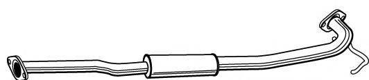 FONOS 614990 Средний глушитель выхлопных газов
