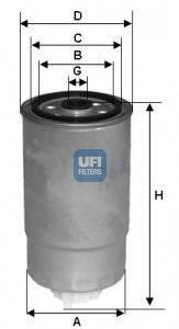 UFI 2435101 Топливный фильтр