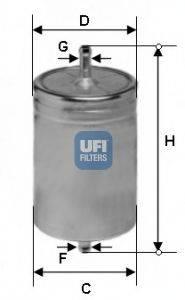 UFI 3161100 Топливный фильтр