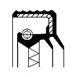 CORTECO 12017270B Уплотняющее кольцо, дифференциал; Уплотняющее кольцо, раздаточная коробка; Уплотняющее кольцо, ступица колеса