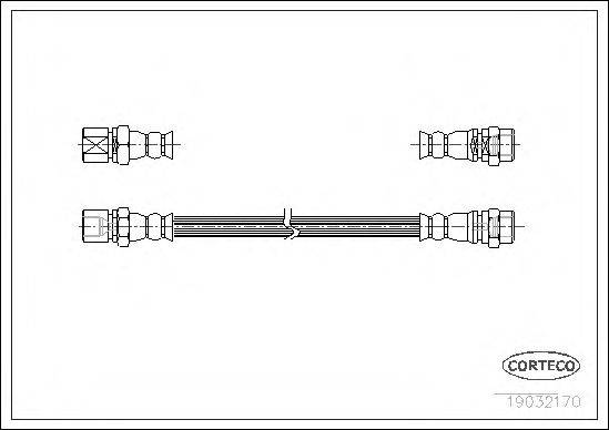 CORTECO 19032170 Тормозной шланг