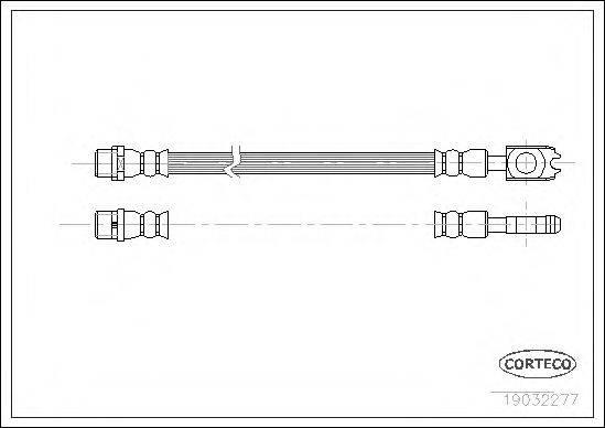CORTECO 19032277 Тормозной шланг