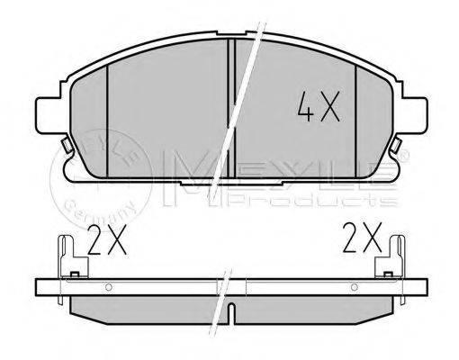 MEYLE 0252342016W Комплект тормозных колодок, дисковый тормоз