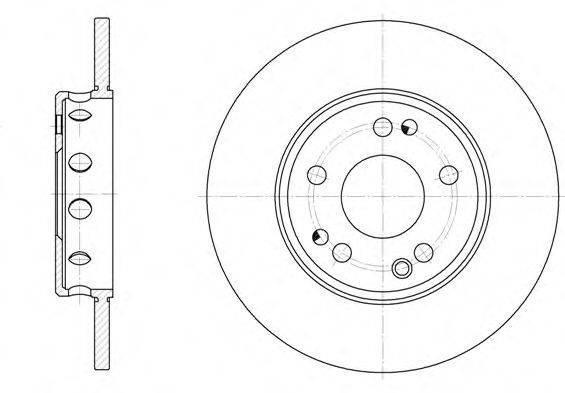 ROADHOUSE 605900 Тормозной диск