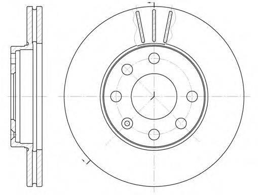 ROADHOUSE 606110 Тормозной диск