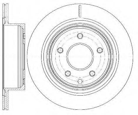 ROADHOUSE 699810 Тормозной диск
