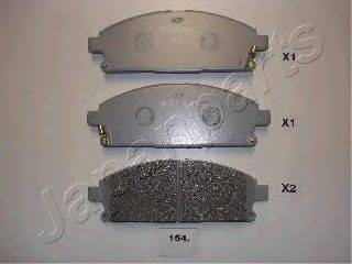 JAPANPARTS PA154AF Комплект тормозных колодок, дисковый тормоз