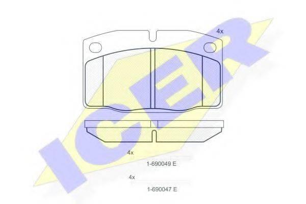 ICER 180454072 Комплект тормозных колодок, дисковый тормоз
