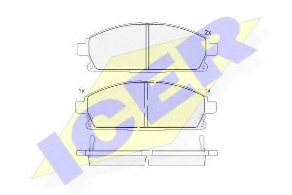 ICER 181521 Комплект тормозных колодок, дисковый тормоз