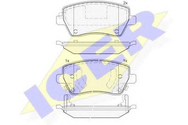 ICER 182019 Комплект тормозных колодок, дисковый тормоз