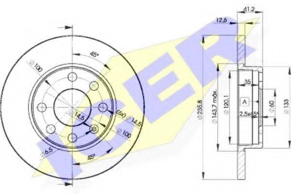 ICER 78BD12402 Тормозной диск